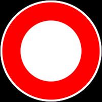 Ce panneau B0 est utilisé partout sans que ceux qui le posent en connaissent la signification. C'est le premier panneau conçu pour le Code de la Route, il signifie circulation interdite à tous véhicules. On le trouve souvent sur les pistes cyclables alors que le vélo est un véhicule au sens de la réglementation. Alors, que faire?