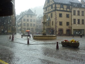Thann sous la pluie