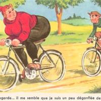 Meuf moche à vélo
