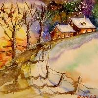 Des aquarelles à Noël
